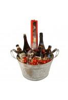 Beerspand med belgiske specialøl, chokolade og chokoladeballs