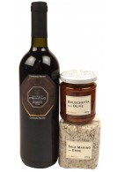 Italiensk rødvin med italienske specialiteter