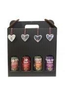 Advents pakkekalender med juleøl 4 x 50 cl. Luxus øl